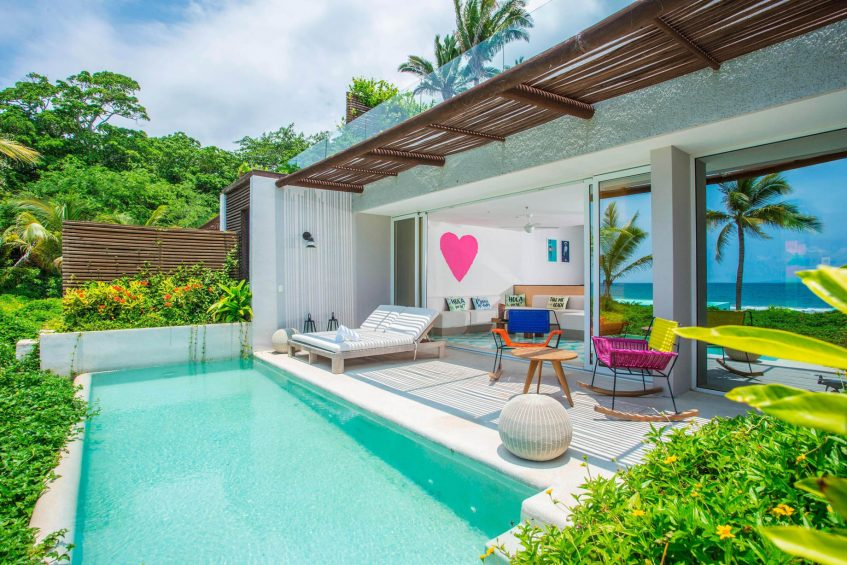 W Punta de Mita Luxury Resort - Punta De Mita, Mexico - Ocean Front Haven Suite Plunge Pool Deck