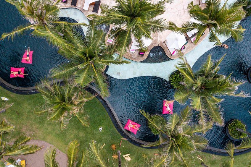 W Bali Seminyak Luxury Resort - Seminyak, Indonesia - WET Pool Overhead Aerial View