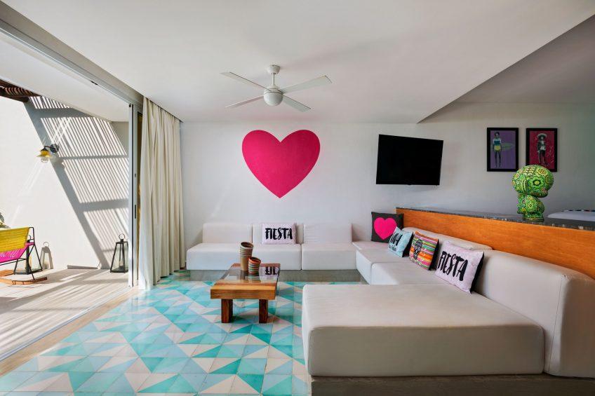 W Punta de Mita Luxury Resort - Punta De Mita, Mexico - Ocean Front Haven Living Room