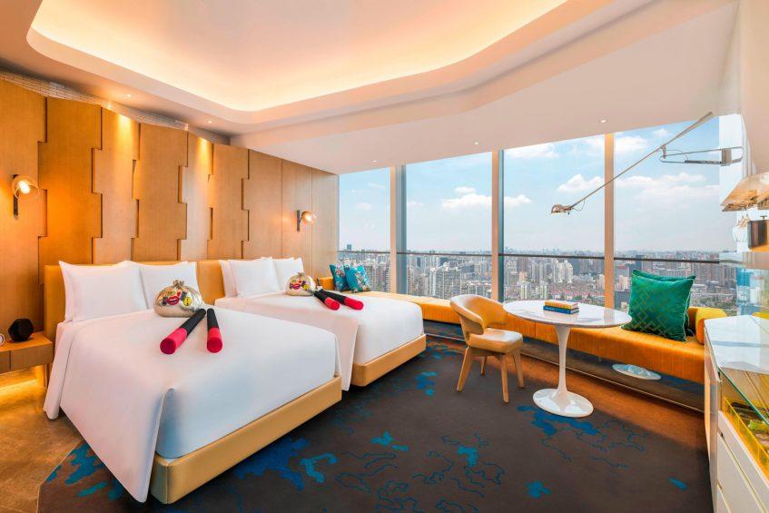 W Shanghai The Bund Luxury Hotel - Shanghai, China - Wonderful Guest Room Twin