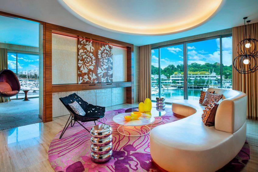 W Singapore Sentosa Cove Luxury Hotel - Singapore - Marvelous Suite Living Room