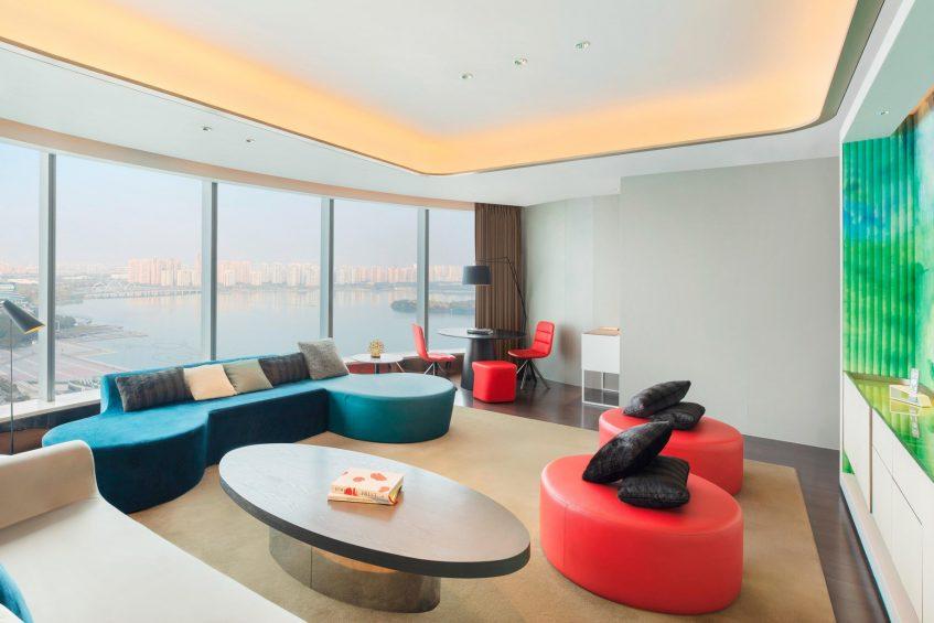 W Suzhou Luxury Hotel - Suzhou, China - Fantastic Suite Living Room