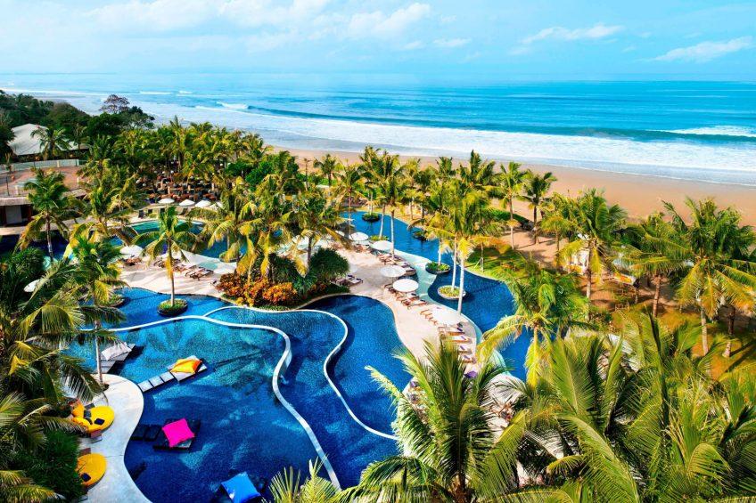 W Bali Seminyak Luxury Resort - Seminyak, Indonesia - Wet Pool Aerial
