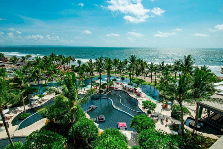 W Bali Seminyak Luxury Resort - Seminyak, Indonesia - WET Pool Aerial Ocean View