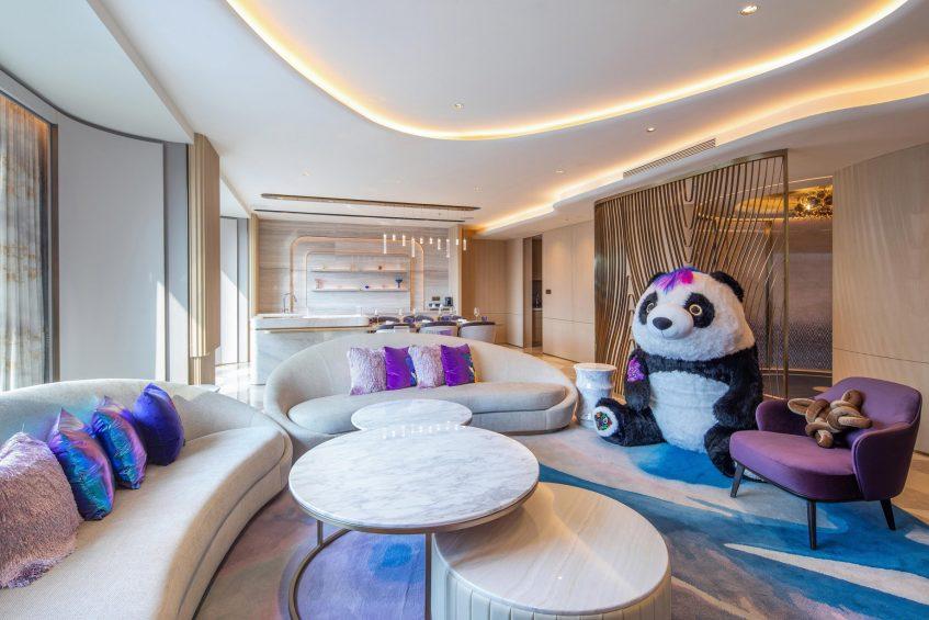 W Chengdu Luxury Hotel - Chengdu, China - WOW Suite Living Room