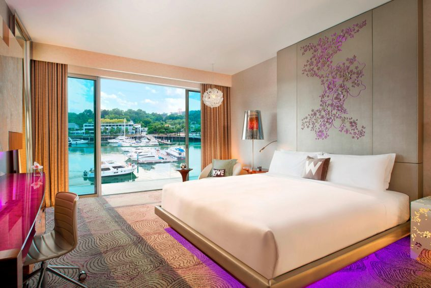W Singapore Sentosa Cove Luxury Hotel - Singapore - Spectacular King Guest Room