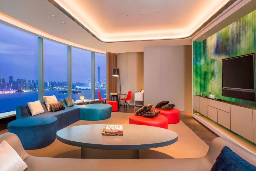 W Suzhou Luxury Hotel - Suzhou, China - Marvelous Suite Living Room