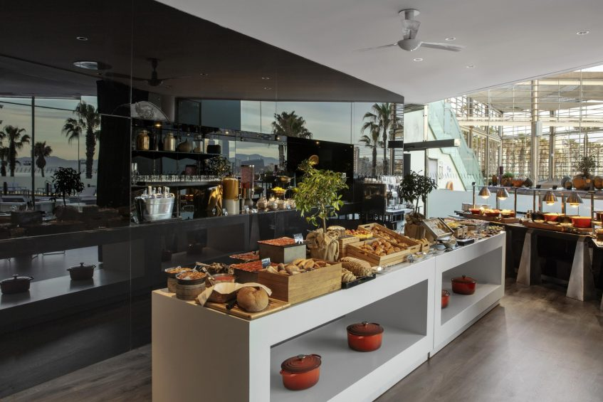 W Barcelona Luxury Hotel - Barcelona, Spain - FIRE Food Counter