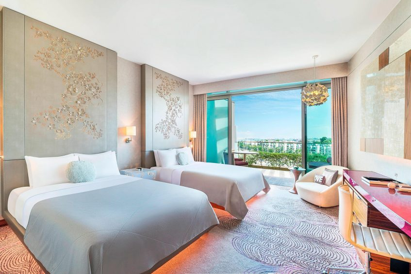 W Singapore Sentosa Cove Luxury Hotel - Singapore - Spectacular Twin Guest Room
