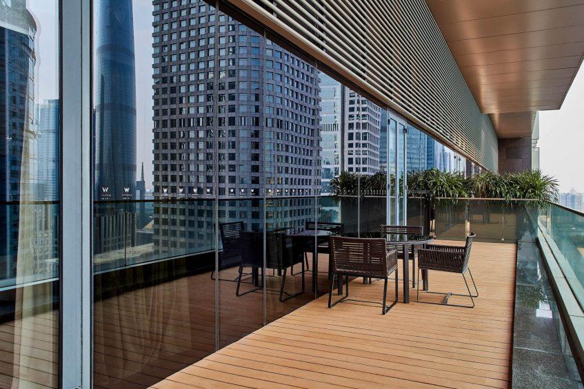 W Guangzhou Luxury Hotel - Tianhe District, Guangzhou, China - WOW Suite Balcony