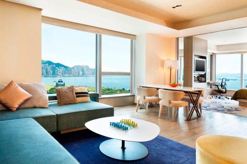 W Hong Kong Luxury Hotel - Hong Kong - Marvelous Suite Glamorous Design King Oceanfront Corner Room