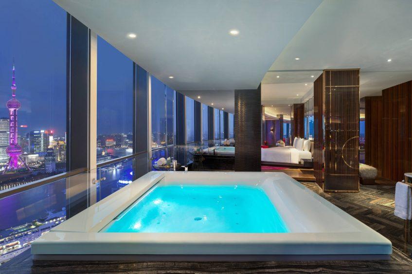 W Shanghai The Bund Luxury Hotel - Shanghai, China - Extreme Wow Suite Bathroom