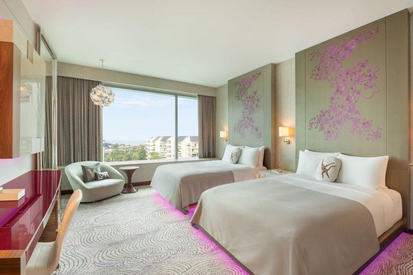 W Singapore Sentosa Cove Luxury Hotel - Singapore - Wonderful Twin Guest Room