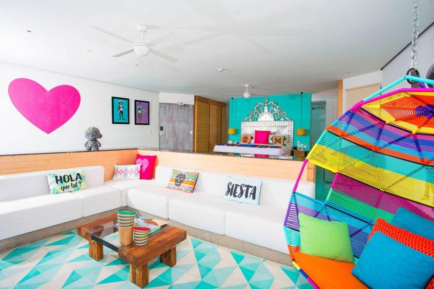 W Punta de Mita Luxury Resort - Punta De Mita, Mexico - Ocean Front Oasis Suite Living Room Decor