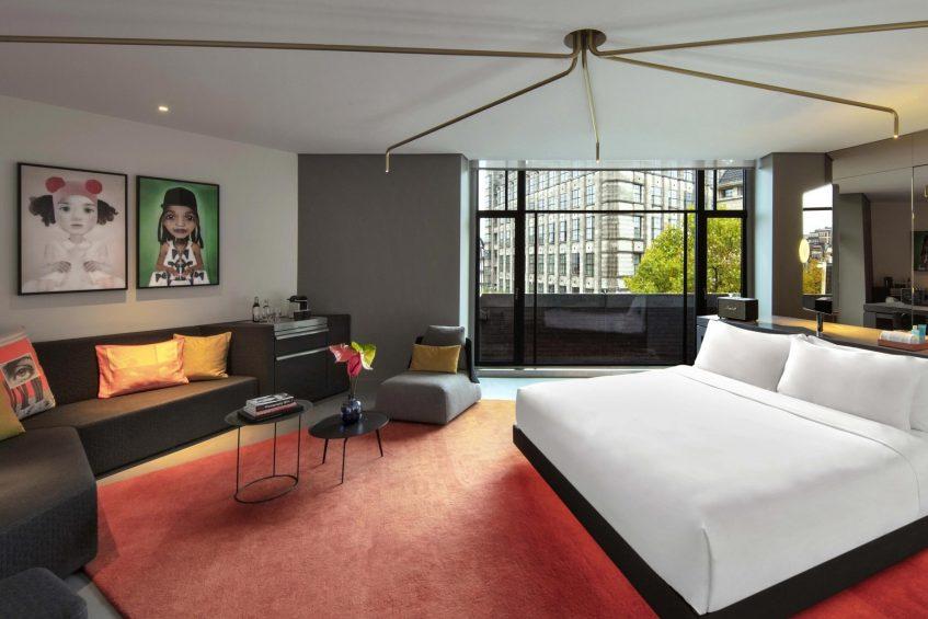 W Amsterdam Luxury Hotel - Amsterdam, Netherlands - Cool Corner Exchange Suite Bedroom