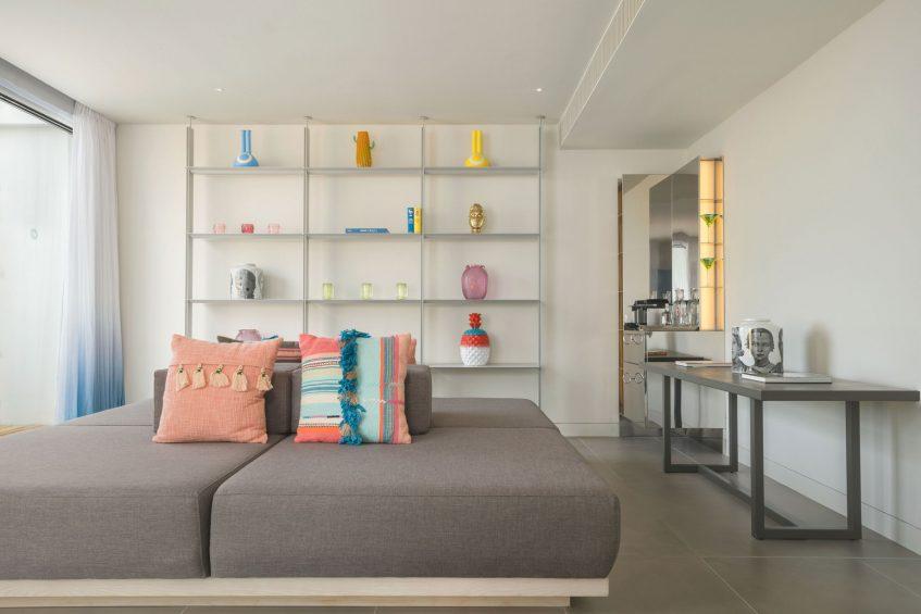 W Ibiza Luxury Hotel - Santa Eulalia del Rio, Spain - WOW Suite Living Room