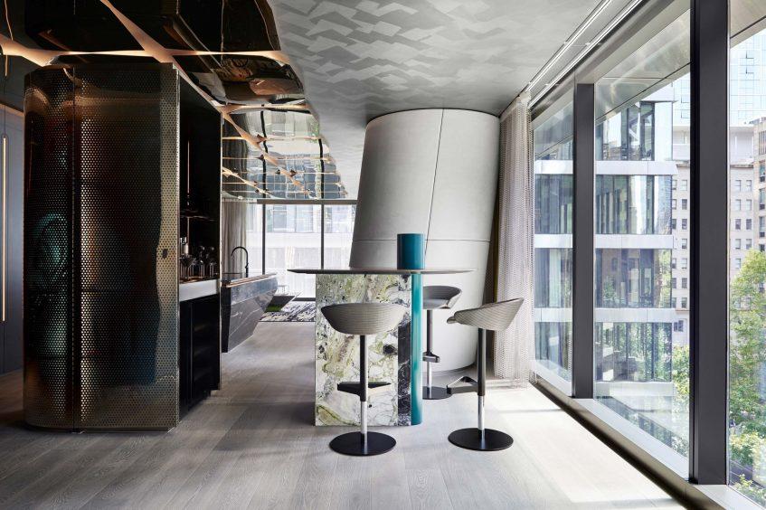 W Melbourne Luxury Hotel - Melbourne, Australia - Wow Suite Seating