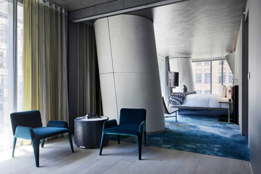 W Melbourne Luxury Hotel - Melbourne, Australia - Wow Suite Sitting Area