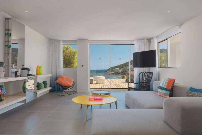 W Ibiza Luxury Hotel - Santa Eulalia del Rio, Spain - WOW Suite Living Room View