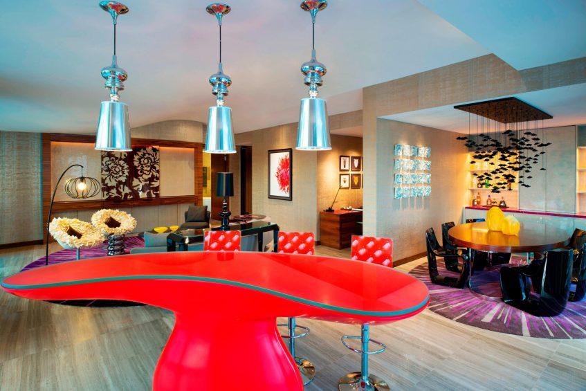 W Singapore Sentosa Cove Luxury Hotel - Singapore - WOW Suite Dining Room