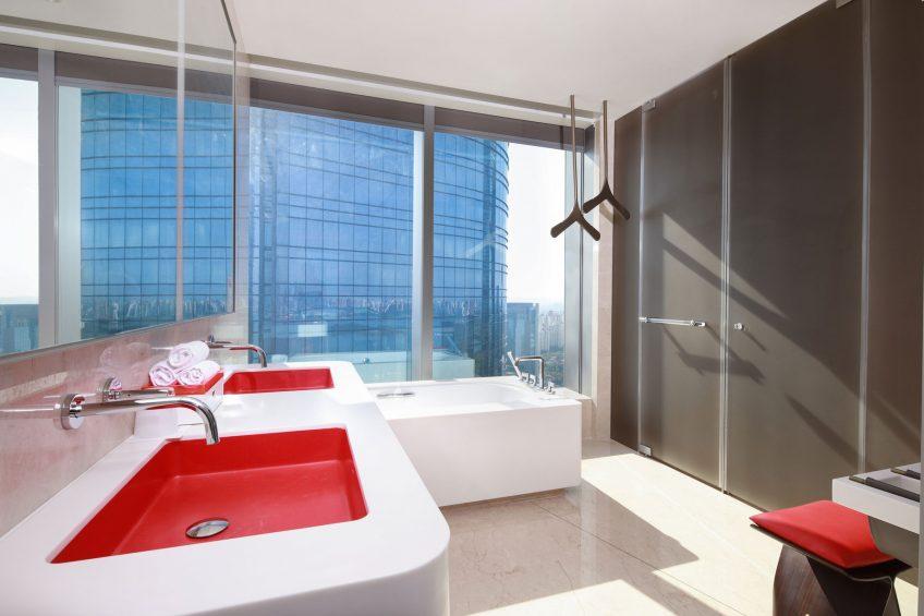 W Suzhou Luxury Hotel - Suzhou, China - Spectacular Room Bathroom Vanity