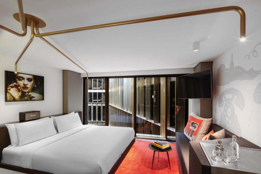 W Amsterdam Luxury Hotel - Amsterdam, Netherlands - Cozy Exchange Guest Room Decor
