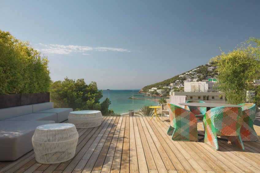 W Ibiza Luxury Hotel - Santa Eulalia del Rio, Spain - WOW Suite Terrace Ocean View