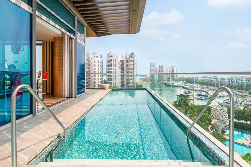 W Singapore Sentosa Cove Luxury Hotel - Singapore - WOW Suite Plunge Pool