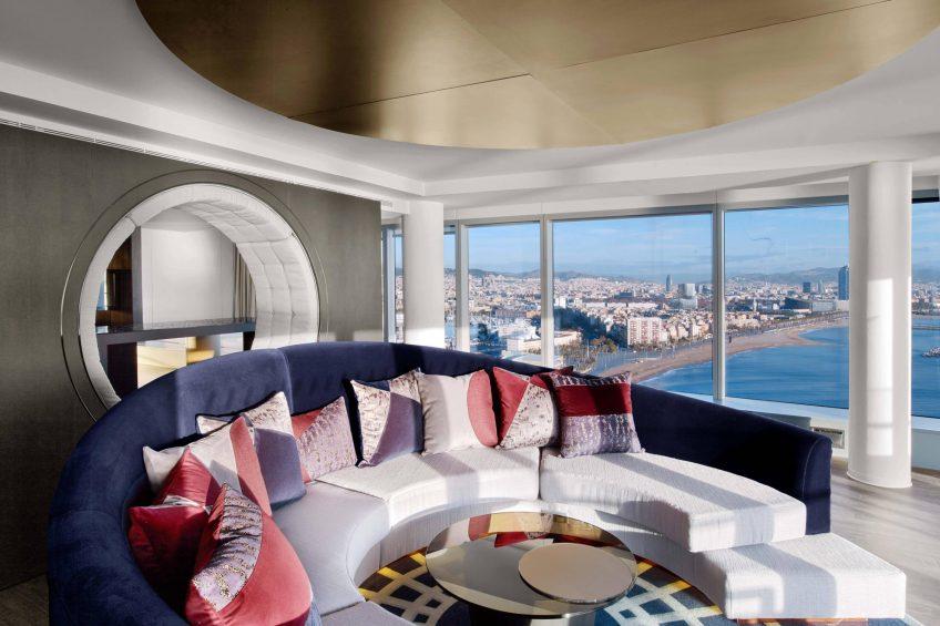 W Barcelona Luxury Hotel - Barcelona, Spain - E WOW Suite Living Area