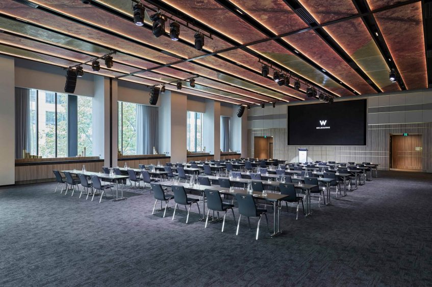 W Melbourne Luxury Hotel - Melbourne, Australia - Great Room Classroom Style