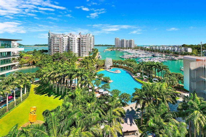 W Singapore Sentosa Cove Luxury Hotel - Singapore - WET Pool Aerial