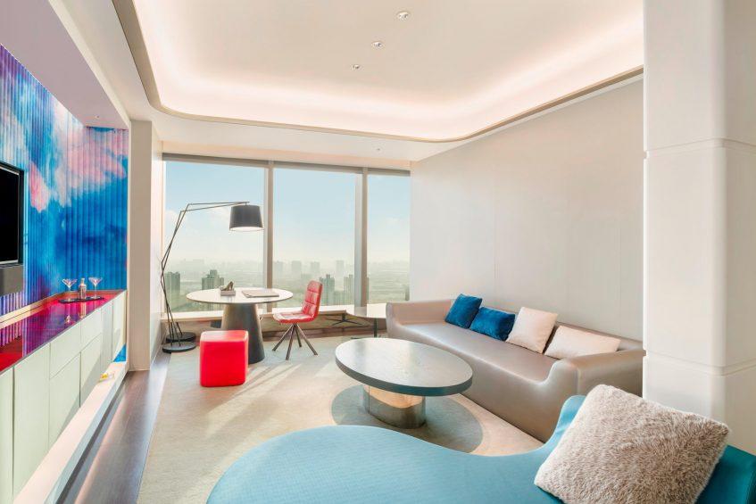 W Suzhou Luxury Hotel - Suzhou, China - Studio Suite Living Room