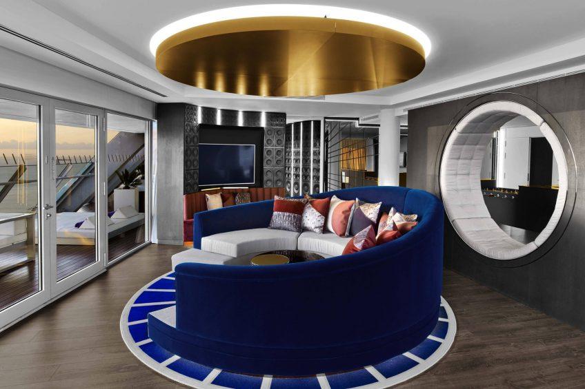 W Barcelona Luxury Hotel - Barcelona, Spain - E WOW Suite Sitting Area