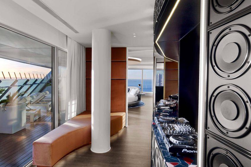 W Barcelona Luxury Hotel - Barcelona, Spain - E WOW Suite DJ Booth