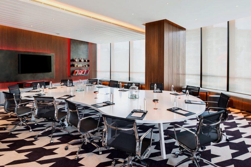 W Shanghai The Bund Luxury Hotel - Shanghai, China - Strategy Room Boardroom Setup