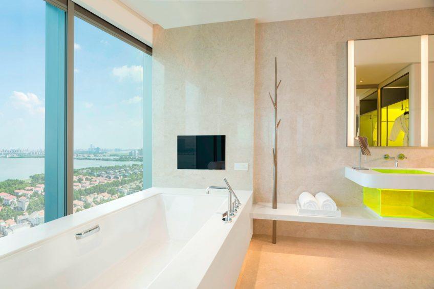 W Suzhou Luxury Hotel - Suzhou, China - Wonderful Guest Bathroom Tub