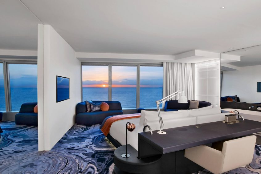 W Barcelona Luxury Hotel - Barcelona, Spain - Cool Corner Suite Bedroom