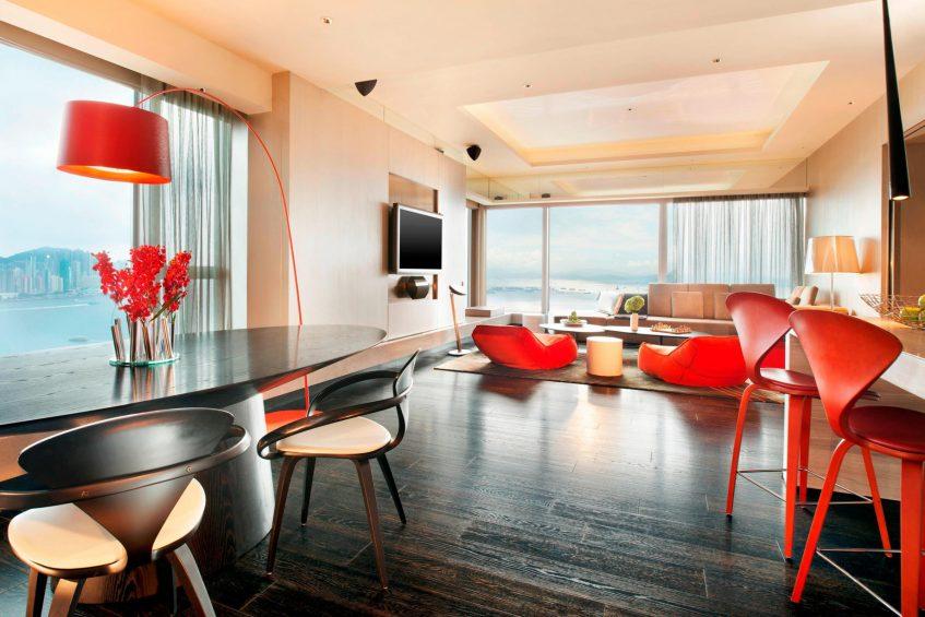 W Hong Kong Luxury Hotel - Hong Kong - WOW Suite Living Room