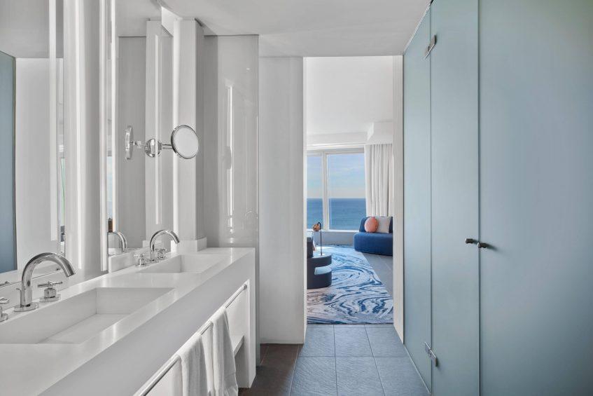 W Barcelona Luxury Hotel - Barcelona, Spain - Cool Corner Suite Bathroom