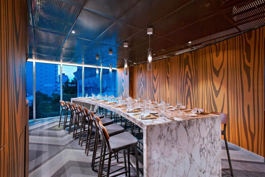 W Mexico City Luxury Hotel - Polanco, Mexico City, Mexico - Strategy Studio Dinner Setup