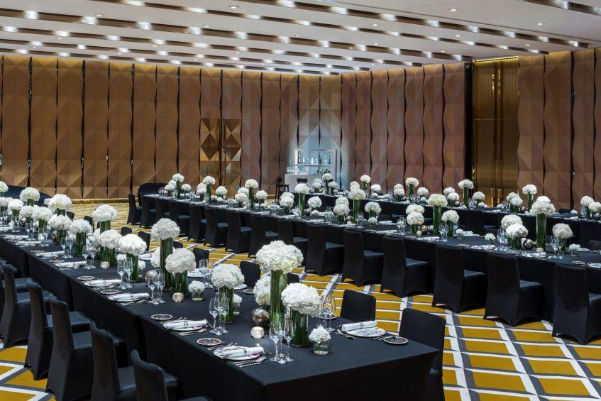 W Shanghai The Bund Luxury Hotel - Shanghai, China - Mega Room Banquet Long Table Setup