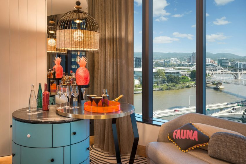 W Brisbane Luxury Hotel - Brisbane, Australia - Wonderful Guest Room W MixBar