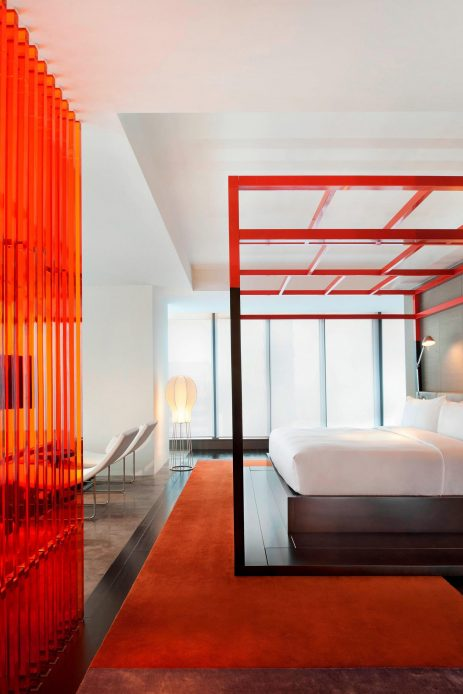 W Taipei Luxury Hotel - Taipei, Taiwan - WOW Suite Bed