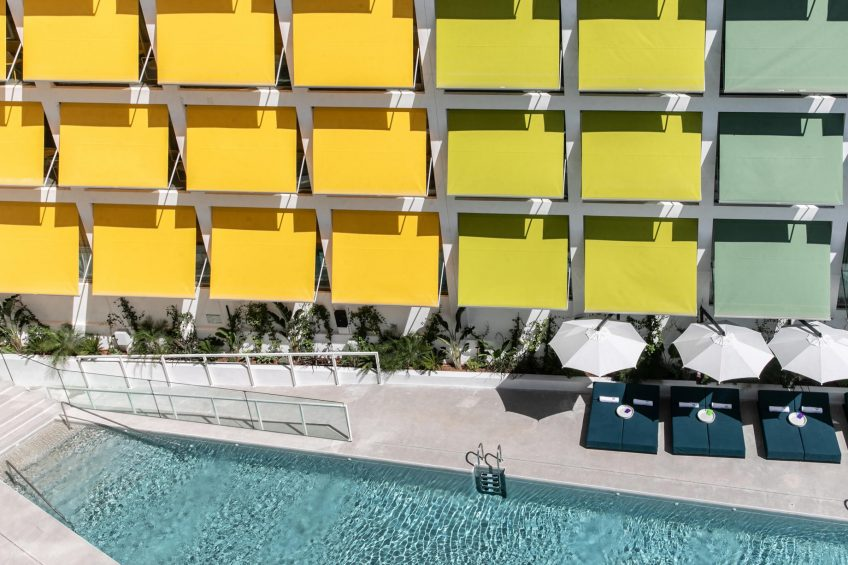 W Ibiza Luxury Hotel - Santa Eulalia del Rio, Spain - WET Deck Pool Aerial