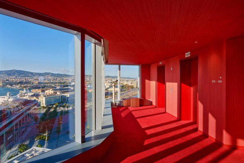 W Barcelona Luxury Hotel - Barcelona, Spain - Guest Room Corridor View
