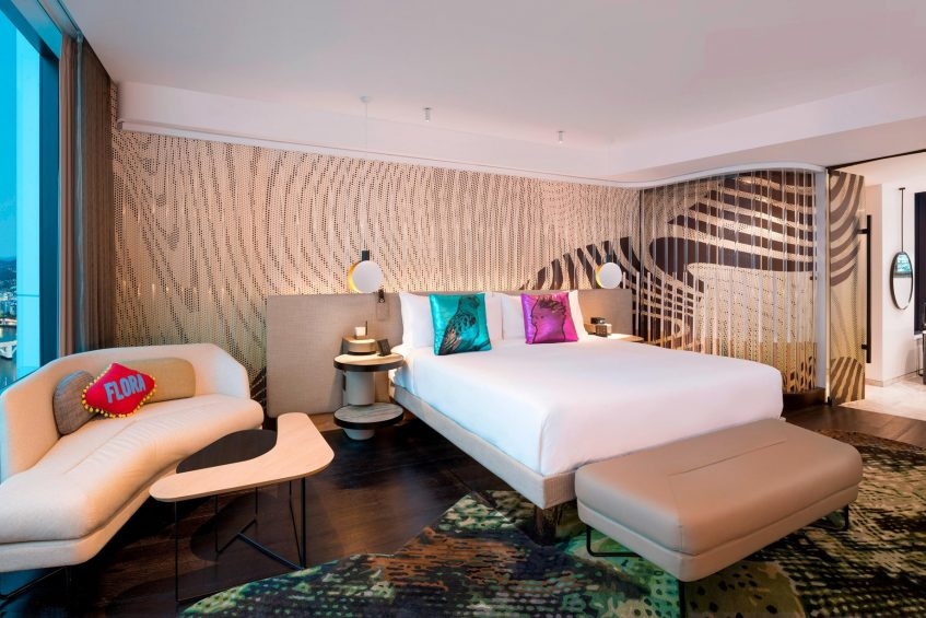 W Brisbane Luxury Hotel - Brisbane, Australia - WOW Suite Bedroom and Bathroom