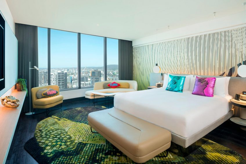 W Brisbane Luxury Hotel - Brisbane, Australia - WOW Suite Bedroom