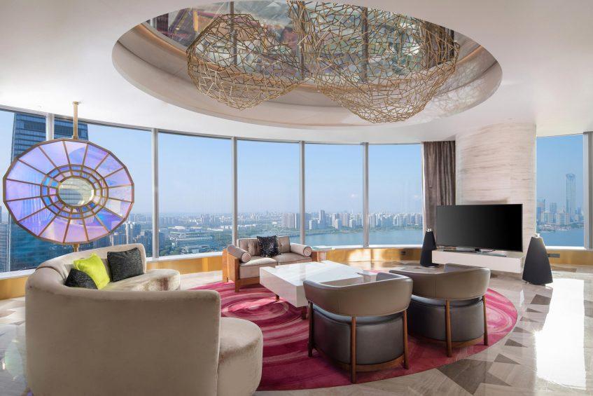 W Suzhou Luxury Hotel - Suzhou, China - WOW Suite Living Area