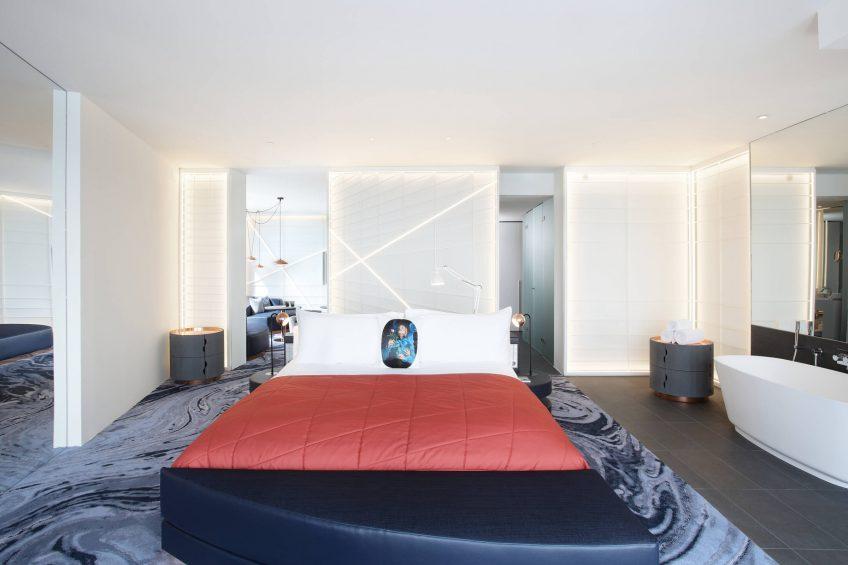 W Barcelona Luxury Hotel - Barcelona, Spain - Cool Corner Suite Bed