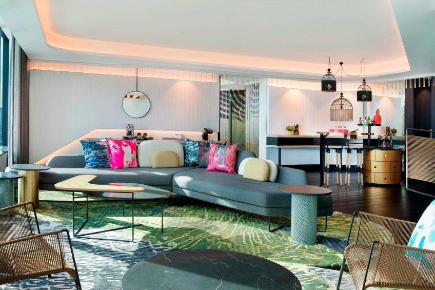 W Brisbane Luxury Hotel - Brisbane, Australia - WOW Suite Living Area